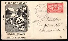 NEW ZEALAND 1936 EARLY HEALTH STAMP ON FDC WITH CACHET DUNEDIN CANCEL