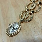 Vintage A Propos Thick Chain Necklace Gold Tone Hand-Winding Pendant Watch Hours