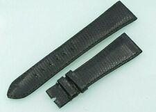 Original Rolex Genuine Black Lizard Strap 20mm 20 - 16 Vintage