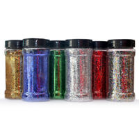 Glitterexpress PVC 040 Glitter 1KG Bags Red, Silver & Green PVC Crafts