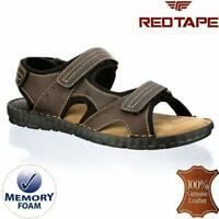 Mens Leather Sandals Walking Memory Foam Comfort Trekking Summer Sandals Shoes