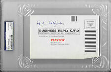 HUGH HEFNER Signed PLAYBOY Magazine Subscription CARD 1984 Adult BUNNY PSA/DNA