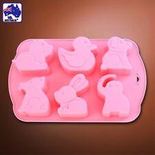 Animals Fondant Silicone Cake Mould Ducks Rabbits Elephant Dog Mold HKIM23806