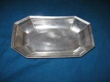 Vintage Wilton Columbia Pa Usa Long Pewter Octagon Bowl
