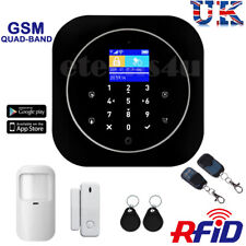 WIRELESS LCD SECURITY GSM AUTODIAL HOME HOUSE OFFICE FIRE BURGLAR INTRUDER ALARM
