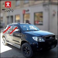 4 Déflecteurs de vent pluie air teintées Toyota Hilux 2005-2015 AN10 AN20 AN30