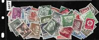 Third Reich stamps 100 All different 1933-1945 Germany & Occupied areas WWII