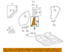 TOYOTA OEM 09-13 Corolla Interior-Lwr ctr plr trim Left 6241402150B1
