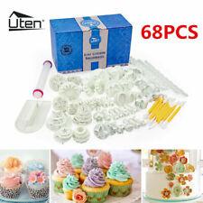 68pcs Cake Decorating Fondant Mould Silicone Sugarcraft Icing Cutters Mold DIY