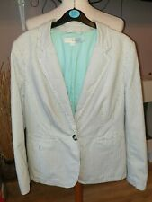 SUPERB LADIES DESIGNER BODEN 100% COTTON PIN STRIPE JACKET UK 14 RRP £85.00