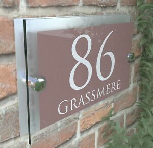 Personalised Acrylic & Aluminium House Signs Plaques Door Numbers Name Plate