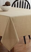 "BURLAP NATURAL TABLE CLOTH  60X120"" HEMMED COTTON WOVEN INTO BURLAP"