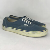 Vans Mens Off The Wall Blue Canvas Skate Shoes Lace Up Low Top Size 11.5