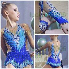 2018 new style Girl Rhythmic Gymnastics Leotards  Ice Figure Skating Dress 91002
