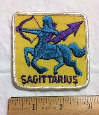 Sagittarius Zodiac Sign Archer Symbol Embroidered Square Patch