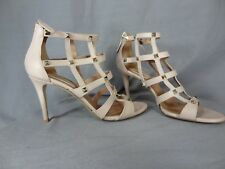 Valentino Rock-stud beige sandals high heel leather shoes size 39 Italy