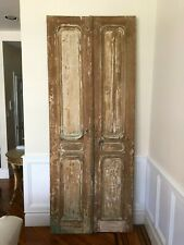 Architectural Salvage Antique Carved Double Doors From France - 38 x 96 inches