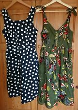 2x TU Summer Dresses Size 10 Polka Dots and Floral Design Knee Length