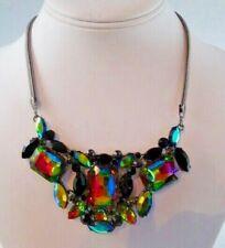 NEW With TAGS-Guess Aurora Borealis Multi-Tone Fruit Mystic Rhinestone Necklace