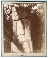 Algérie, Tipaza (تيبازة), Un Bas-Relief  Vintage citrate print. Tirage citrate