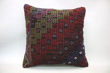 Kilim Sofa Pillow, 20x20 in, Decorative Throw Cushion, Handmade Vintage Pillow