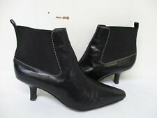 COLE HAAN City Black Leather Ankle Boots Women's Size 7 B Style D11773