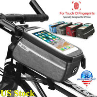 "6.0"" Bicycle Cycling Bike Front Tube Frame Bag MTB Waterproof Phone Holder Case"