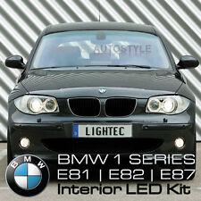 BMW serie 1 SMD LED Luz Interior Completo Kit puro Xenon Blanco Charco vanidad Boot