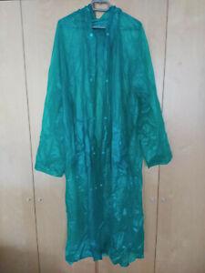 PVC Regenmantel mit Kapuze, grün, kaum getragen, Größe XL
