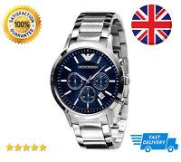 Emporio Armani AR2448 Blue Dial Mens Stainless Steel Chronograph Designer Watch