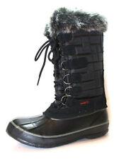 Calzado de mujer de nieve textil de color principal negro