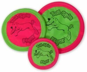 booda Tail-Spin Flyer Floating Flying Fetch Flippy Frisbee Disk Flopper Dog Toy