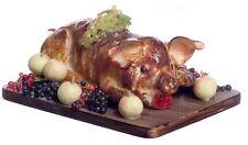 Dollhouse Miniature Artisan Tudor Roast Whole Pig