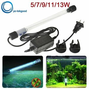 Aquarium Submersible UV Light Sterilizer Pond Germicidal Clean Lamp Fish Tank