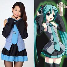 Japan Anime Hatsune Miku Cosplay Girl Lolita Uniform Costume Performance Dresses