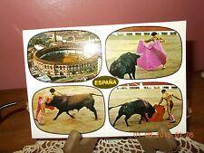 Lot Of 4 Vintage Bullfight Postcards