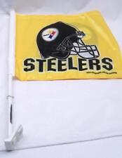 NFL Pittsburgh Steelers Car Truck Window 2 sided Flag Helmet Design
