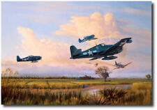 Easy Kill Over Luzon by Jim Laurier - Grumman F6F Hellcat - Aviation Art Print