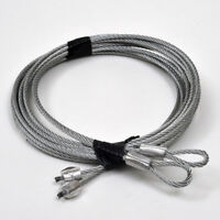 Garage Door Torsion Spring Cables 8' (Pair)