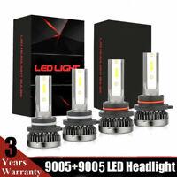 Mini 9005+9006 Combo LED Headlight 6000K Bulb Kit 2800W 420000LM High Low Beam
