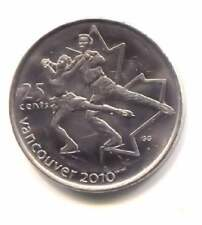 2010 Canadian Olympics 25 Cent Coin - Canada Quarter - Vancouver Ice Skatiing