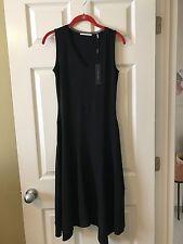 T Tahari  Womens Athena Black Mesh Trim Sleeveless Casual Dress XS NWT