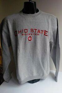 "RED OAK SPORTSWEAR ""Ohio State Buckeyes"" Crewneck Sweatshirt Gray SZ LARGE NWT"