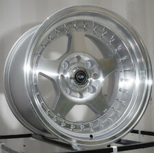 One 15x9 Rota KYUSHA 4x114.3 -15 Full Royal Silver Wheel