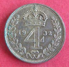 More details for 1932 king george v silver maundy 4 pence - mintage 1937
