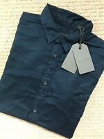 "ALL SAINTS BALTIC BLUE ""TOPANGA"" LOGO LONG SLEEVE SHIRT TOP - XS - NEW & TAGS"