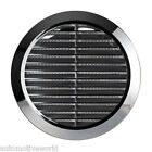 "Chrome Circle Air Vent Grille Adjustable Ducting 100mm 4"" 125mm 5"" 150mm 6"" T36M"