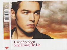DAVID SNEDDON STOP LIVING THE LIE CD SINGLE 3 TRACKS
