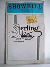 STERLING SILVER Playbill FREDERICK SILVER / LEE ROY REAMS NYC 1979