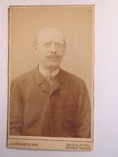 Taus - Klattau - Bischof Teinitz - Mann mit Glatze im Anzug - Portrait / CDV